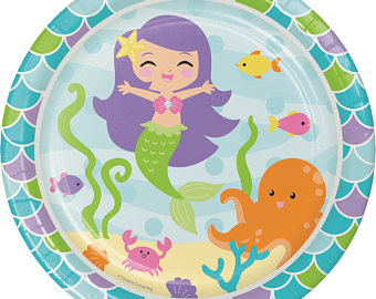 Tea Party clipart dinner with friend Girls Mermaid Party time Dinner