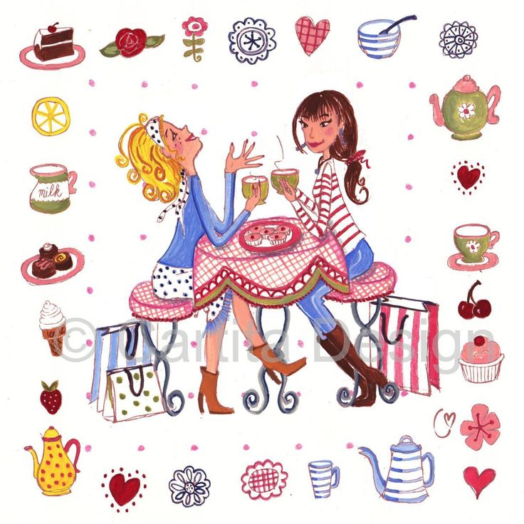 Tea Party clipart dinner with friend Party date ☕ on on
