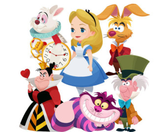Alice In Wonderland clipart storybook character #1