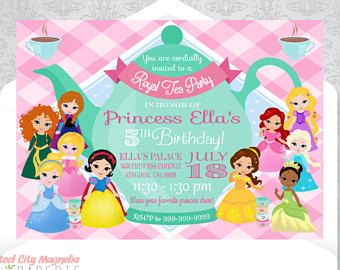 Tea Party clipart disney princess Party Princess Disney printable Birthday