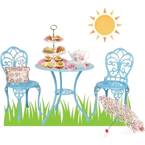 Tea Party clipart english tea Tea  Polyvore English Party