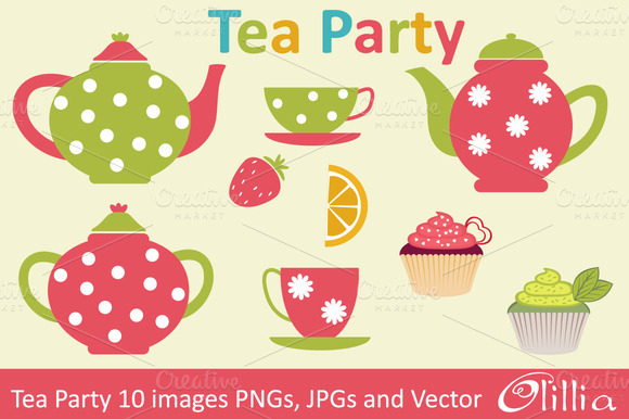 Tea Party clipart english tea Party Free Cliparts Clip on