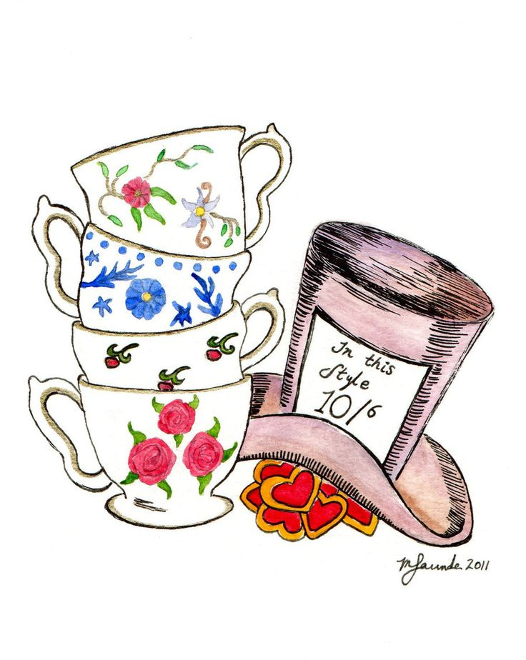 Tea Party clipart mad hatter #2