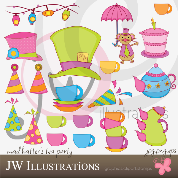 Tea Party clipart mad hatter #5