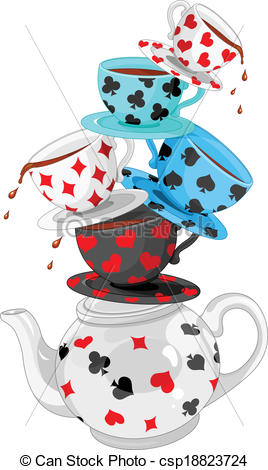 Tea Party clipart mad hatter #6