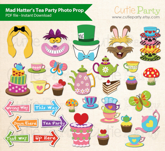 Tea Party clipart mad hatter #7