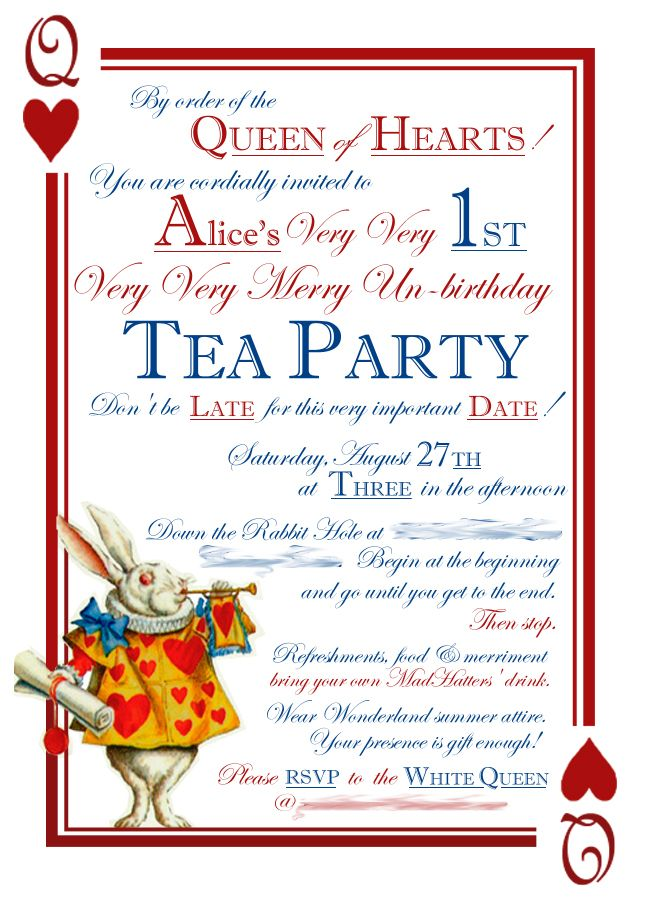 Tea Party clipart merry unbirthday Alice party in on images