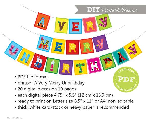 Tea Party clipart merry unbirthday  Alice Printable Merry Very