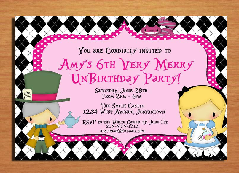 Tea Party clipart merry unbirthday Alice Very Wonderland / Cards