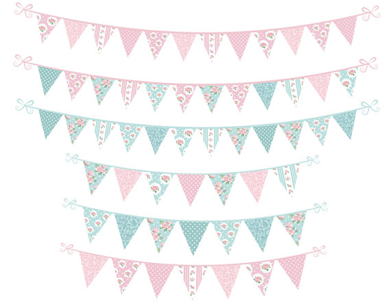 Tea Party clipart party banner Clipart digital is Bunting Party