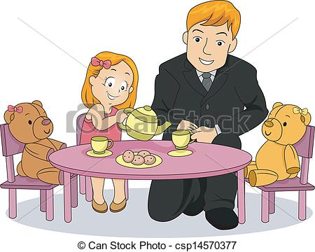 Tea Party clipart person at party Playing Vectors with party her