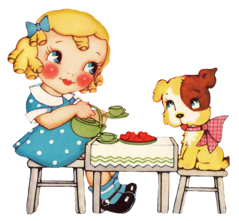 Tea Party clipart person at party Party Tea Girl Clipart Girl