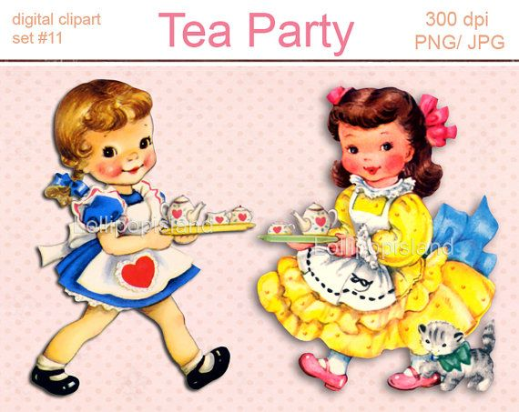 Tea Party clipart person at party 6 theme little images Tea