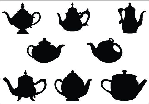 Teacup clipart silhouette Clipart Mad Tea and and