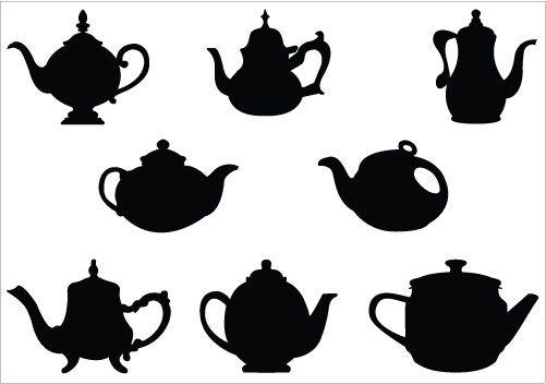 Kettle clipart teacup Art Black Tea Party Black