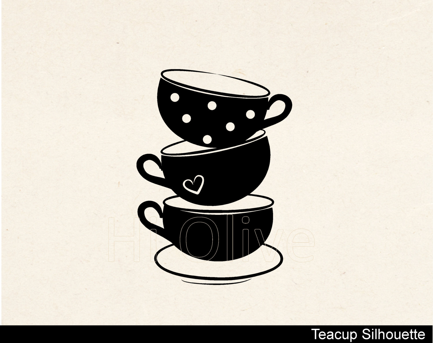 Teacup clipart silhouette Teacups party SVG file silhouette