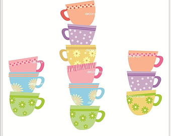 Tea Party clipart stacked Teacup Clipart craze%20clipart Clipart Images