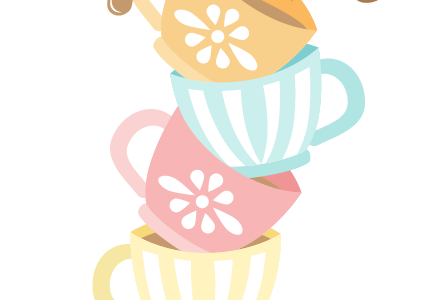 Tea Party clipart stacked For and Against Kids Project