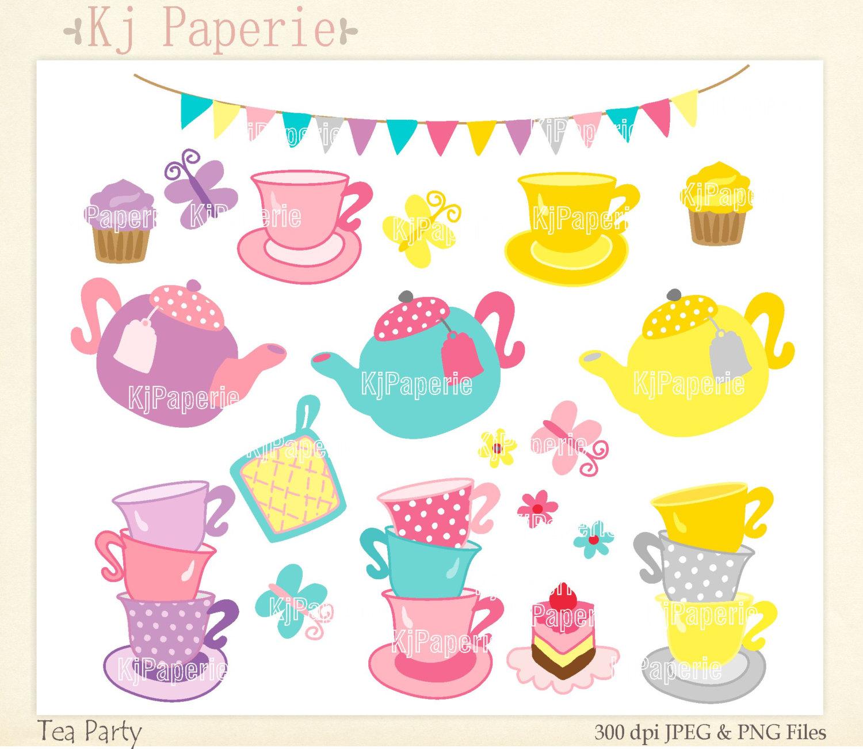 Teapot clipart teacup Cup art party scrapbooking clip