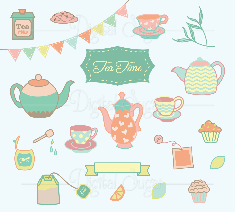 Muffin clipart lemon poppy seed Tea Teapot Invitation Party Tea
