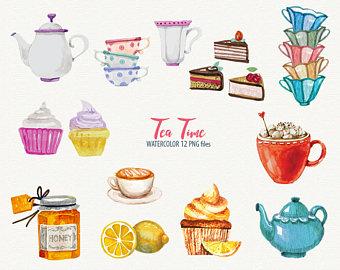 Tea Party clipart tea scone Clipart Cupcake Set Digital Art