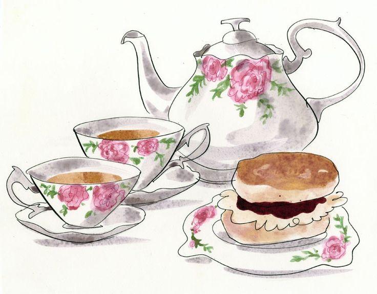 Tea Party clipart tea scone Tea Teapots on afternoon images