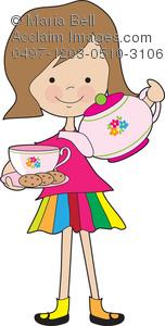 Tea Party clipart tea scone Photography & Acclaim stock photography