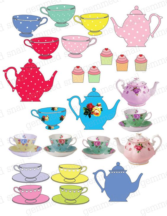 Tea Party clipart tea set Scrapbooking Tea tea tea set