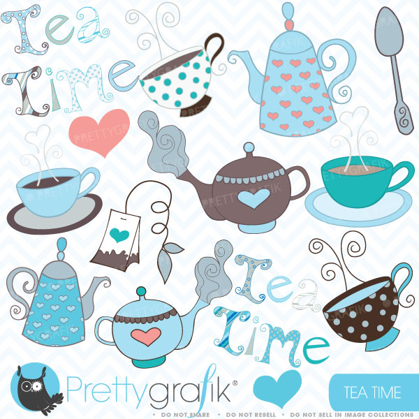 Tea Party clipart vintage food #2
