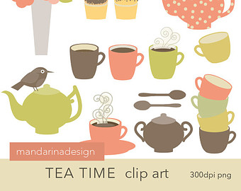 Tea Party clipart vintage food #7