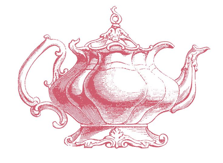 Tea Party clipart vintage food #9