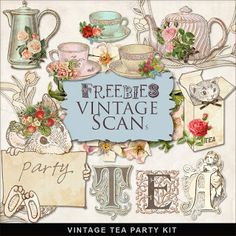 Tea Party clipart vintage food #4