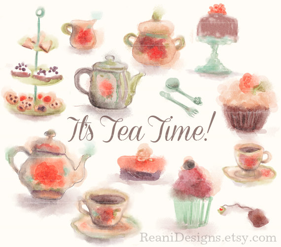 Tea Party clipart vintage food #5
