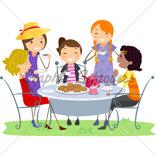 Tea Party clipart women's A GL Illustration Party Stock