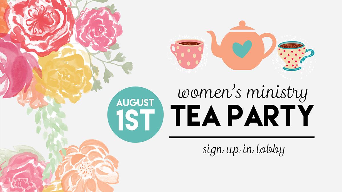 Tea Party clipart women's Bay  Event on Tea