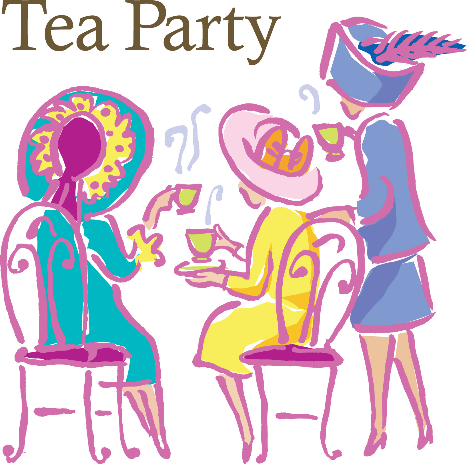 Tea Party clipart women's Ages Tea and Women's by