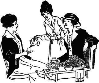 Tea Party clipart women's Tea Womens Clipart Clipart Tea