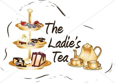 Tea Party clipart women's Tea Ladies Church Ladies Clipart