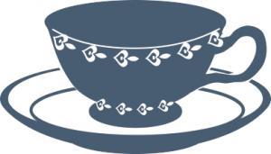 Teacup clipart Dark cup #25343 blue Teacup