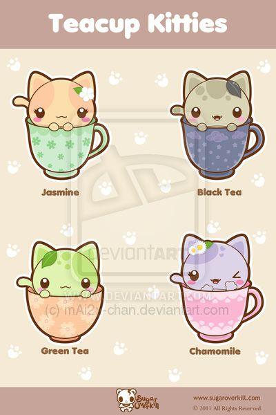 Teacup clipart kitty Teacup Kitties @deviantART chan com