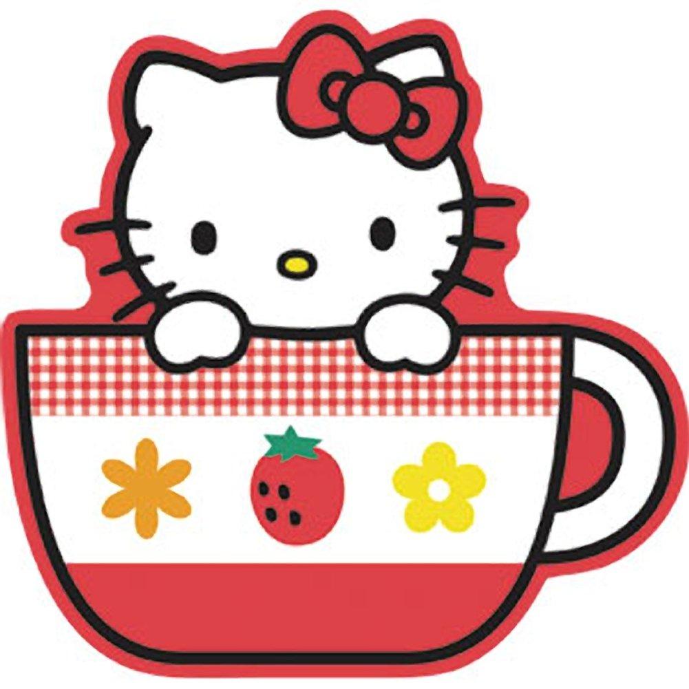 Teacup clipart kitty  Hello Cup Tea Sticker