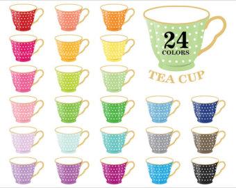 Teacup clipart poetry cafe Color art Dot Shabby Tea