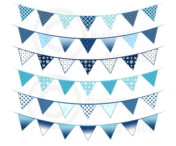 Bunting clipart teal Clipart Blue art this Blue