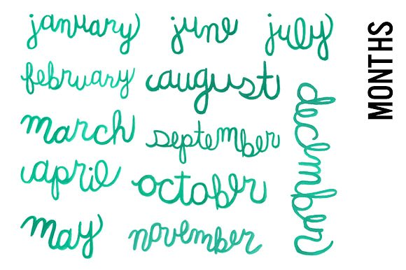 Calligraphy clipart creative Month Creative Calligraphy on Watercolor