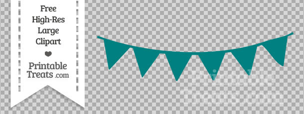 Bunting clipart teal Teal Banner Banner com Pennant