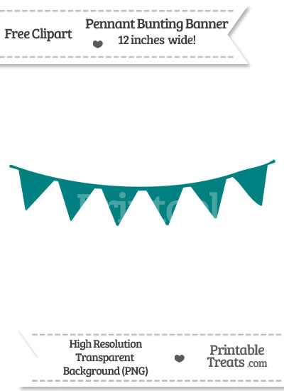 Bunting clipart teal Treats Printable com from Banner