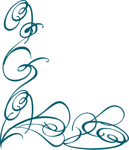 Damask clipart swirly Collection Clip Dark png Teal