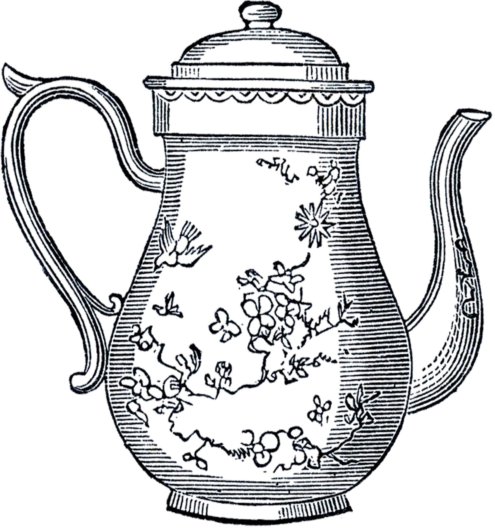 Mauve clipart teapot Art Free Vintage The Art