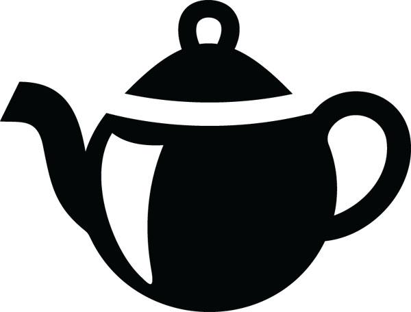 Teapot clipart Clipart housewares ClipartAndScrap custom art