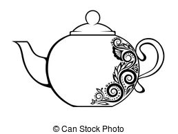 Templates  clipart teapot And white  with decorated